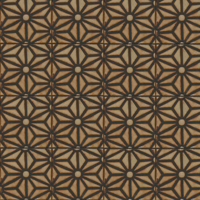 Star Lattice Deco in repeat - Limestone, black line