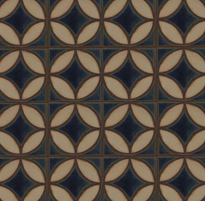Filigree in Iznik Color Palette Colors: Night Sky, Limestone