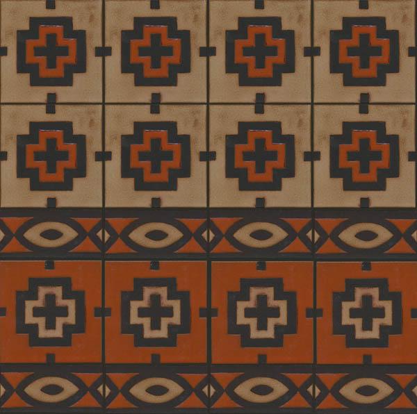 navajo border designs. Navajo Square + Border In Cayenne Limestone Designs