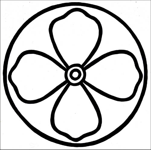 KIMONO FLOWER - 8x8