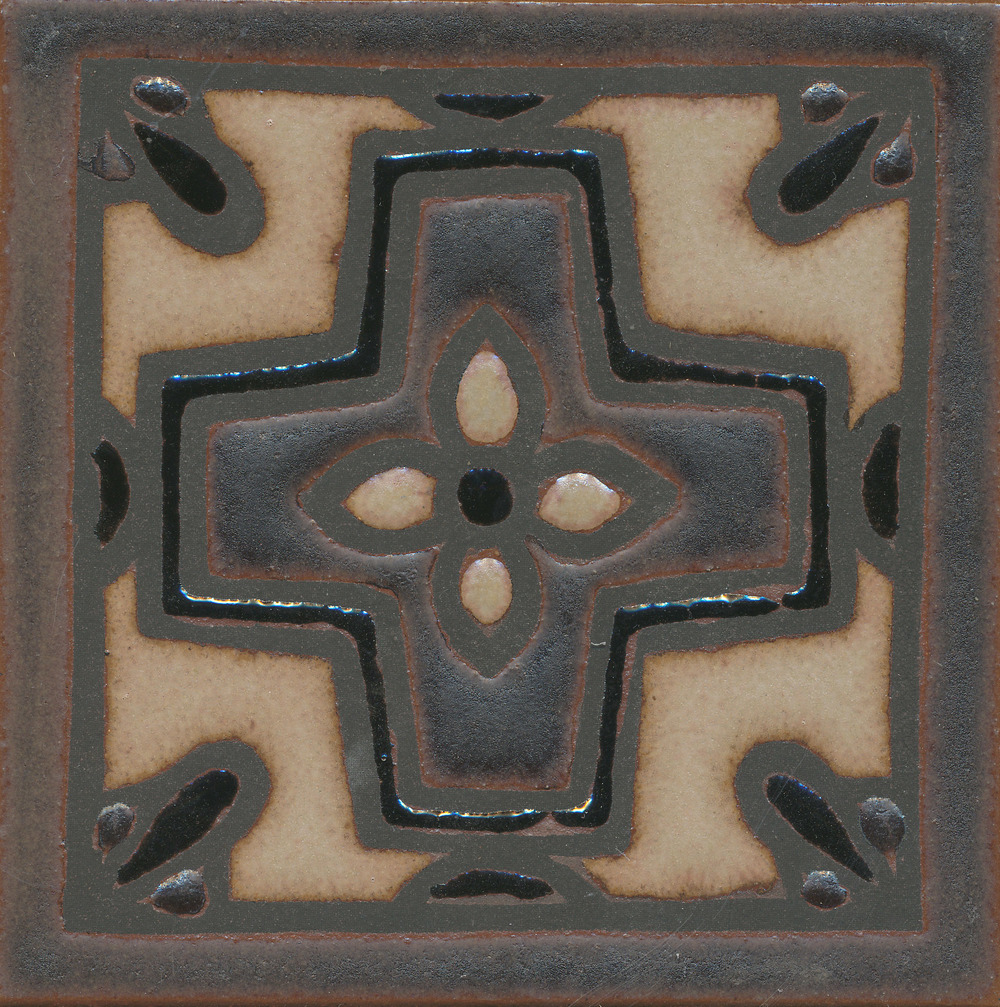 Romanian Deco - MR-160  Tavira Color Palette - black line Comes in 6x8 and 8x8