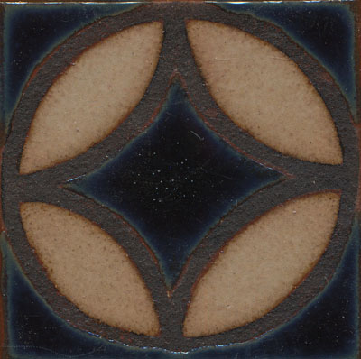 Filigree Deco 4x4  IZNIK color palette: night sky + limestone