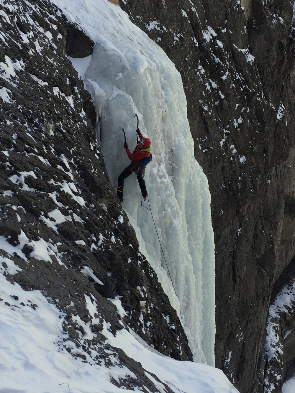 ice climbing - endless natural waterfall ice in the South Fork valley