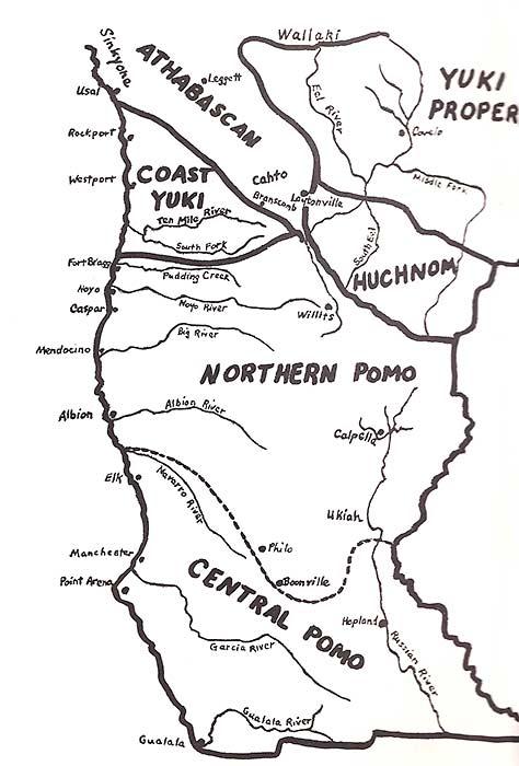 Map of Pomo region