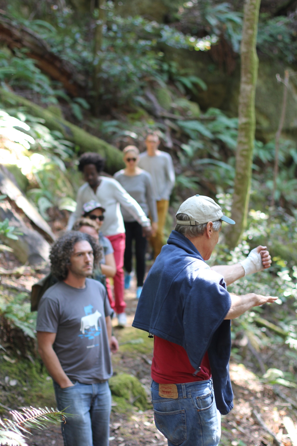 Tom Ratcliff leading a hike during Project 387