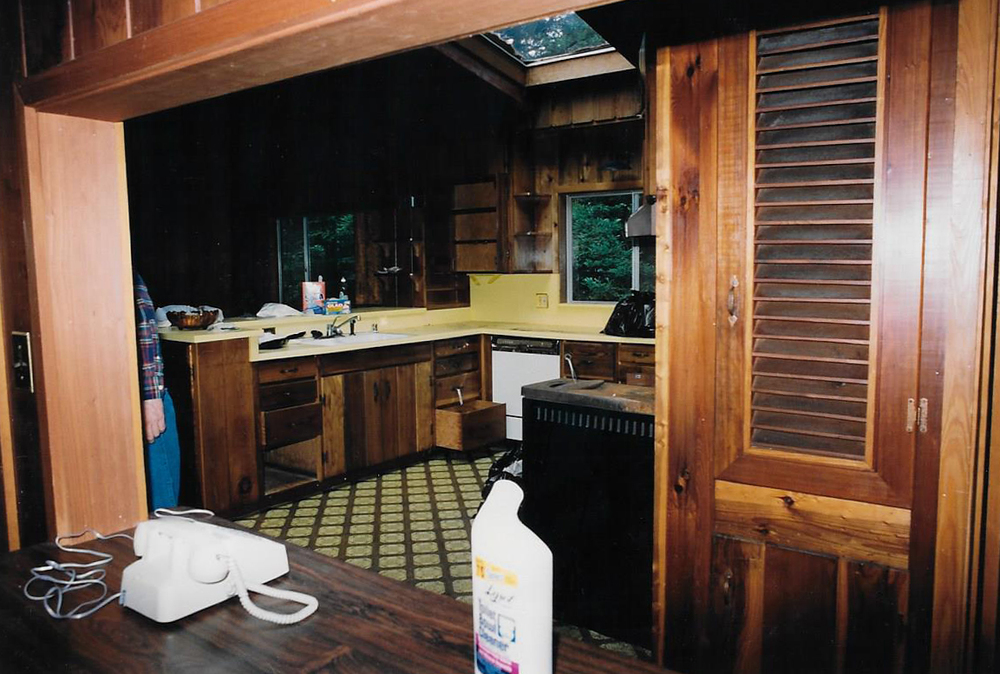 The kitchen as it was discovered in 1990