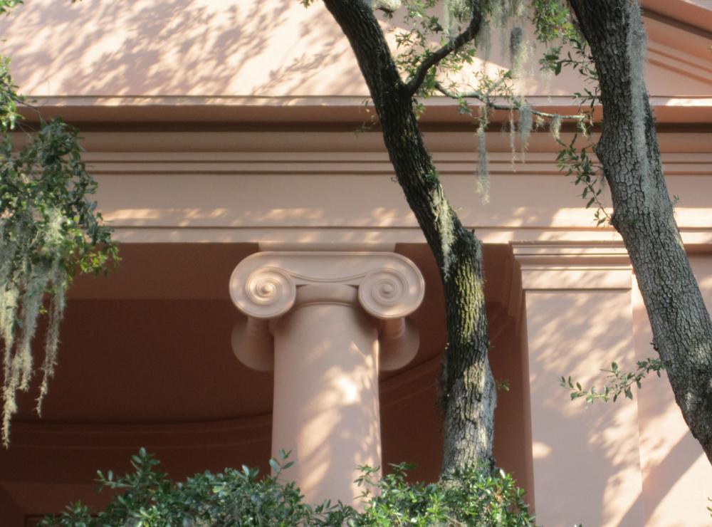 Randolph Hall, College of Charleston, born 1977, designed by Albert Simons.