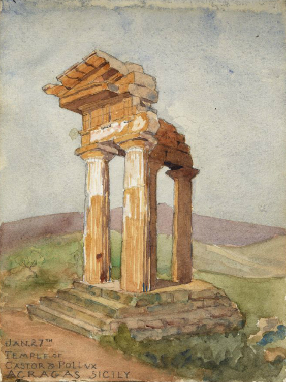 Temple of Castor & Pollux, A.S. (For this and other images of Simons's work, visit Lowcountry Digital Library.)