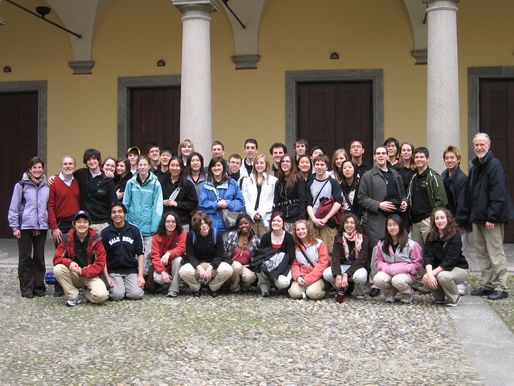Clark in Italy with the Stevenson High School Tour Orchestra after a successful performance at the Milan Conservatory of Music,2008