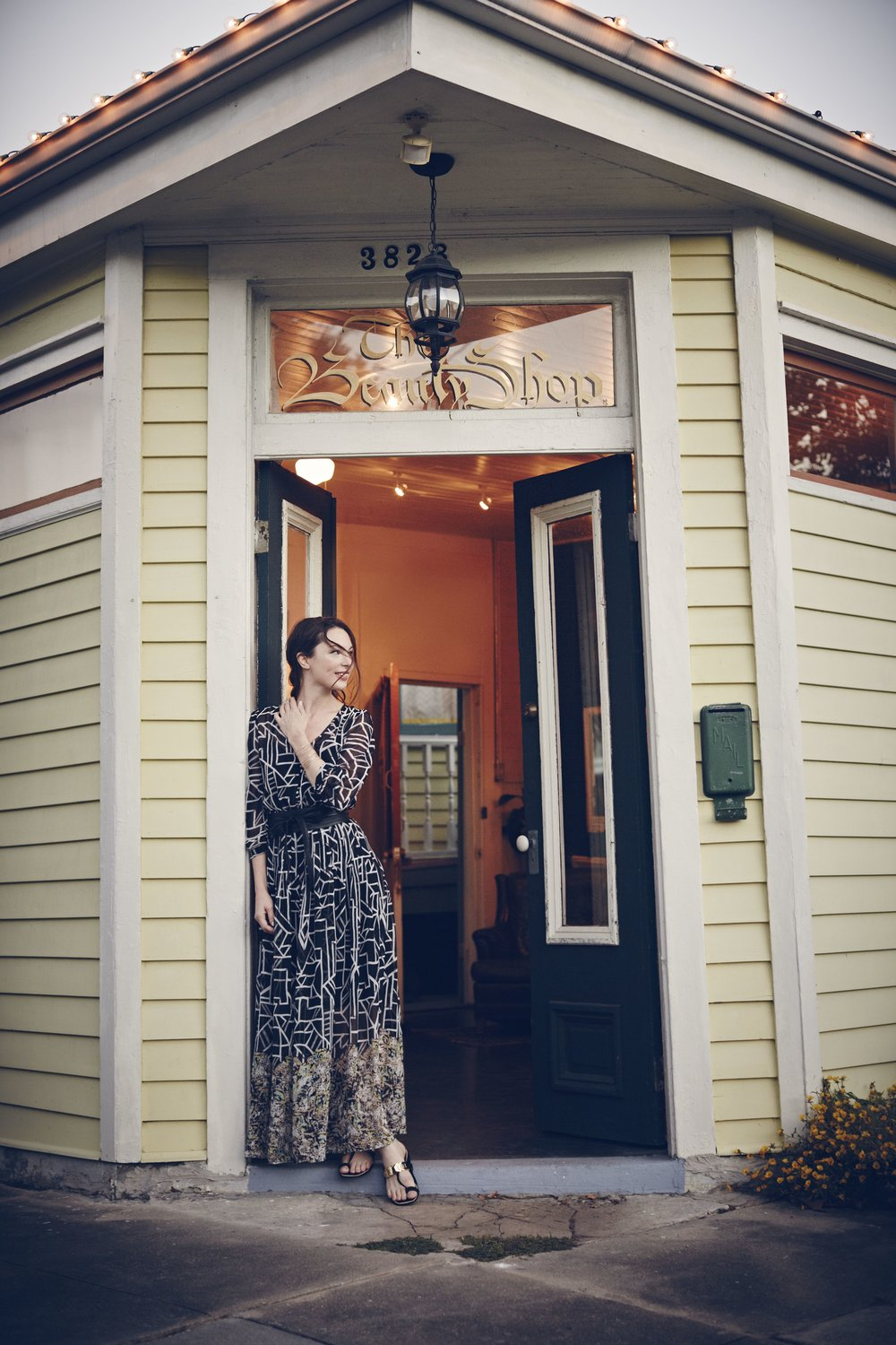 Rebecca Rebouche at the former brick and morter Beauty Shop in New Orleans. Photo by Bettina Lewin for Anthropologie.
