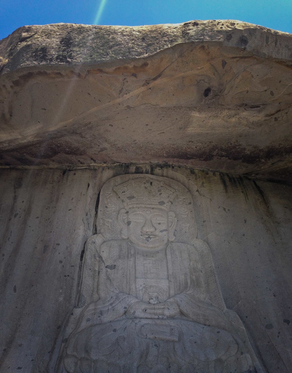 life size buddha carving