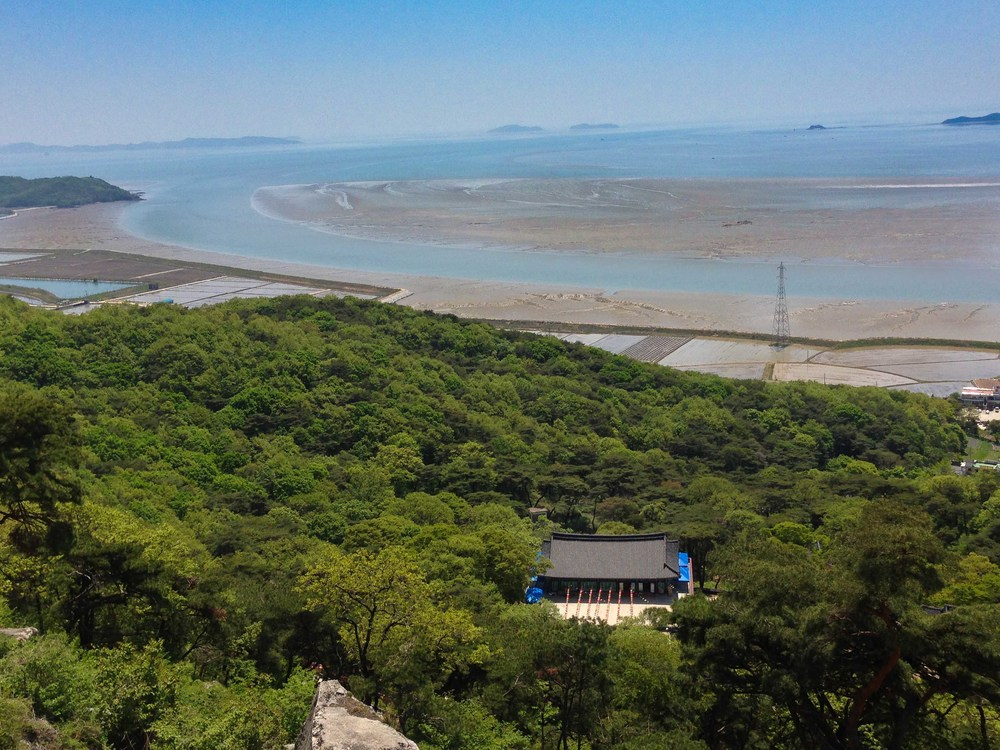 view from Bomunsa Temple in Ganghwa