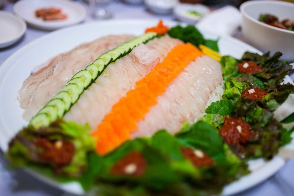 Korean Sashimi Platter, 2012 Dan Chung