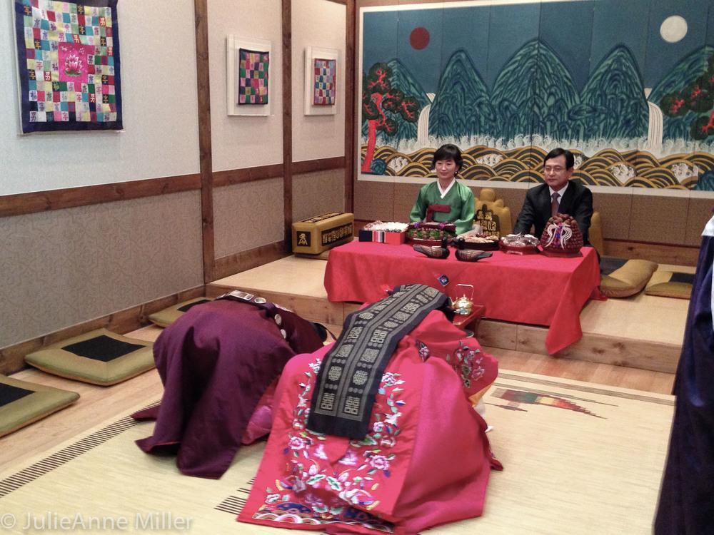 Paepaek (폐백) ceremony