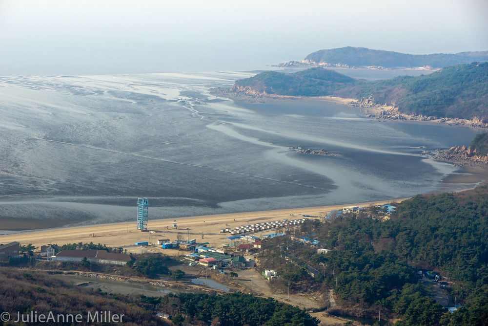 Hanagae beach, muuido, south korea