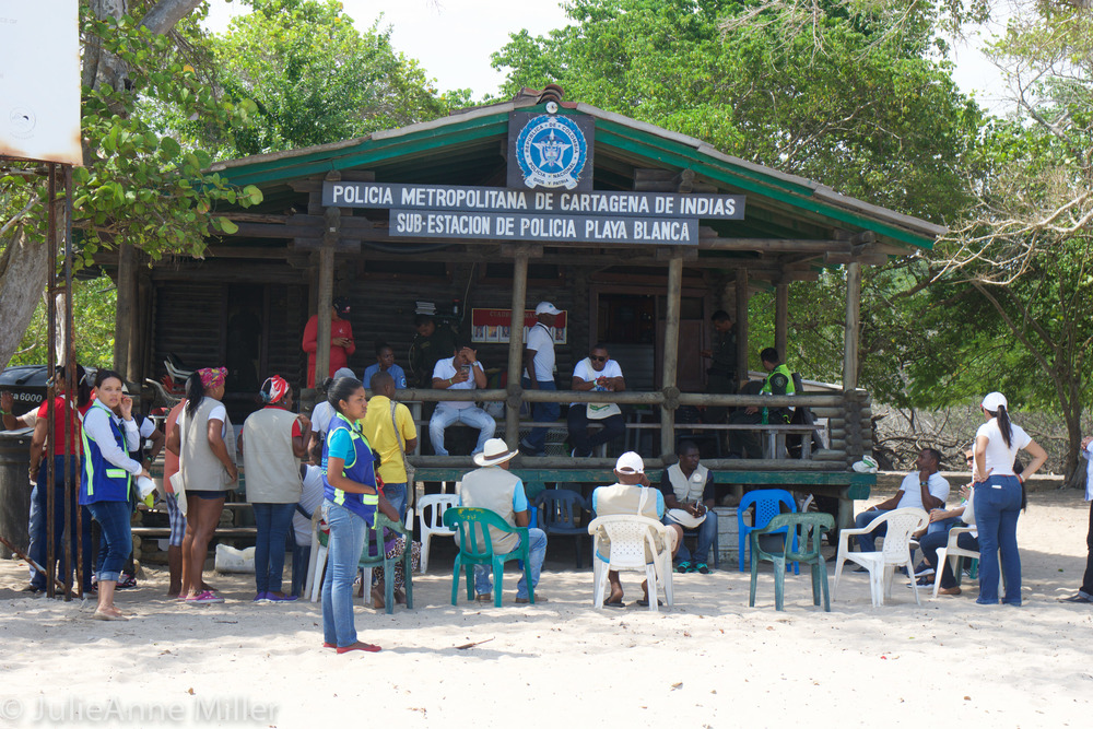 Playa Blanca Police force and staff