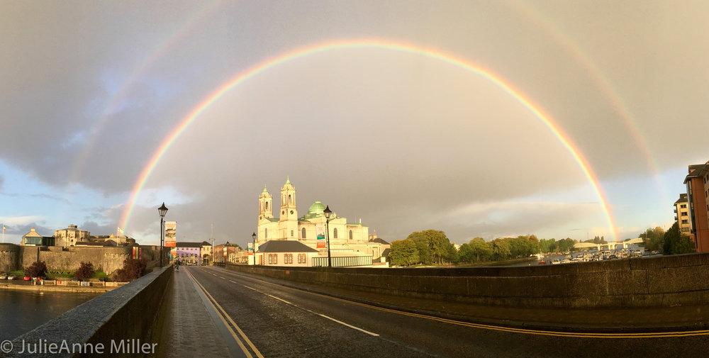 Beautiful rainbows in athlon, ireland