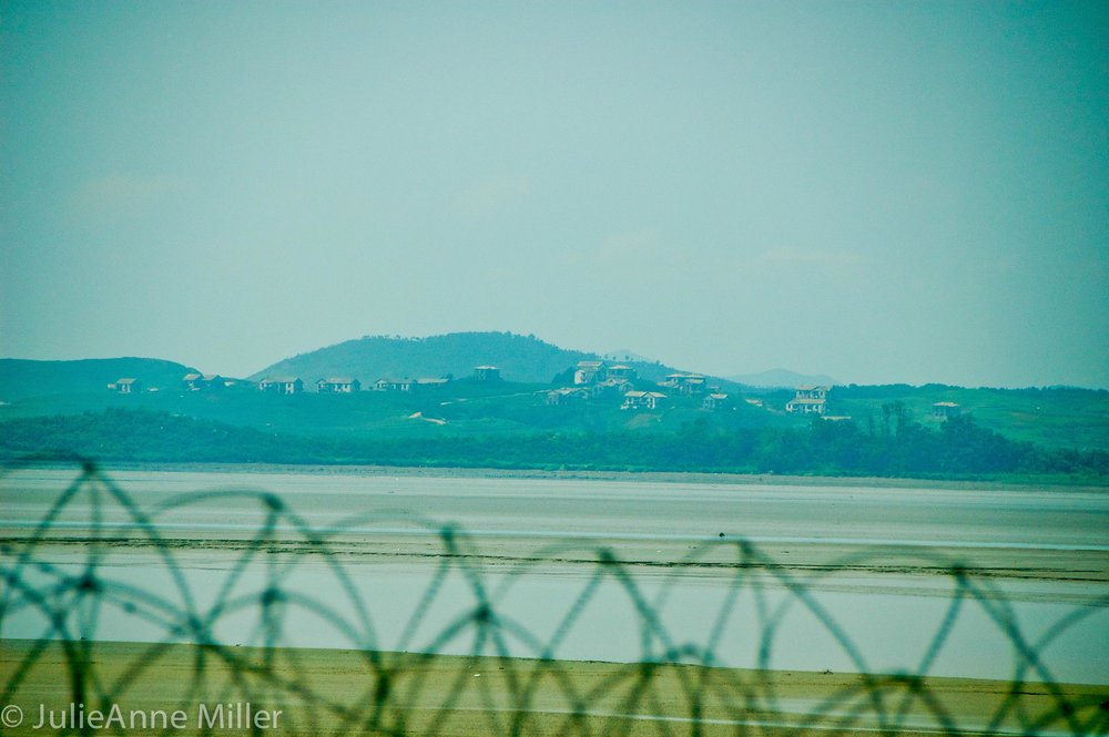 view North Korea, DMZ