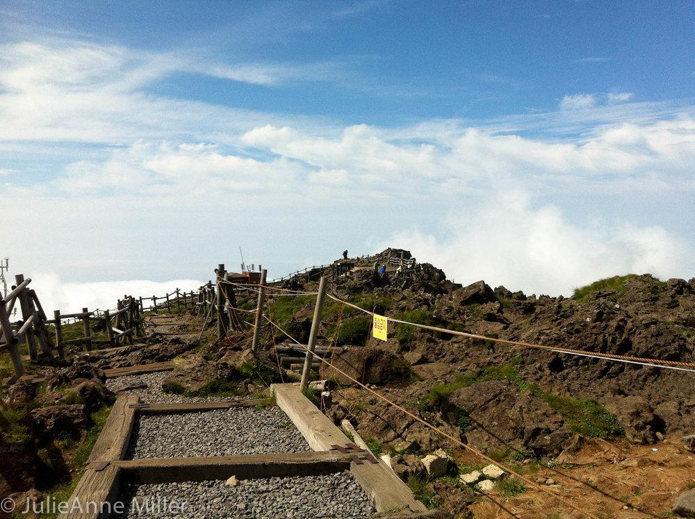 Halla San trail crest, Jeju