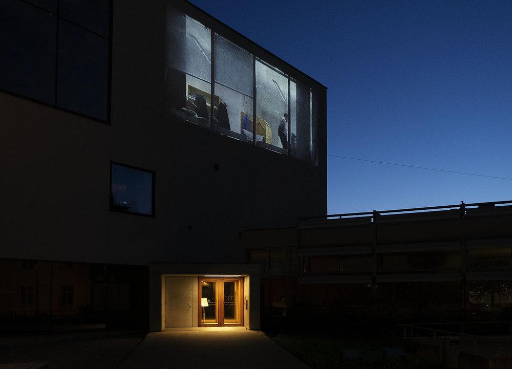Installation image, VAFT (Video Art Festival Turku)