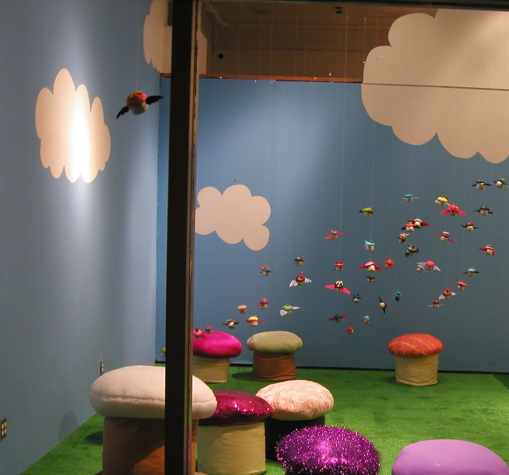 Cupcake Flock and installation (detail)
