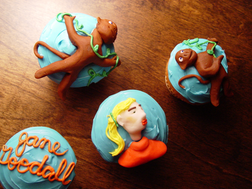 Jane Goodall Cupcakes