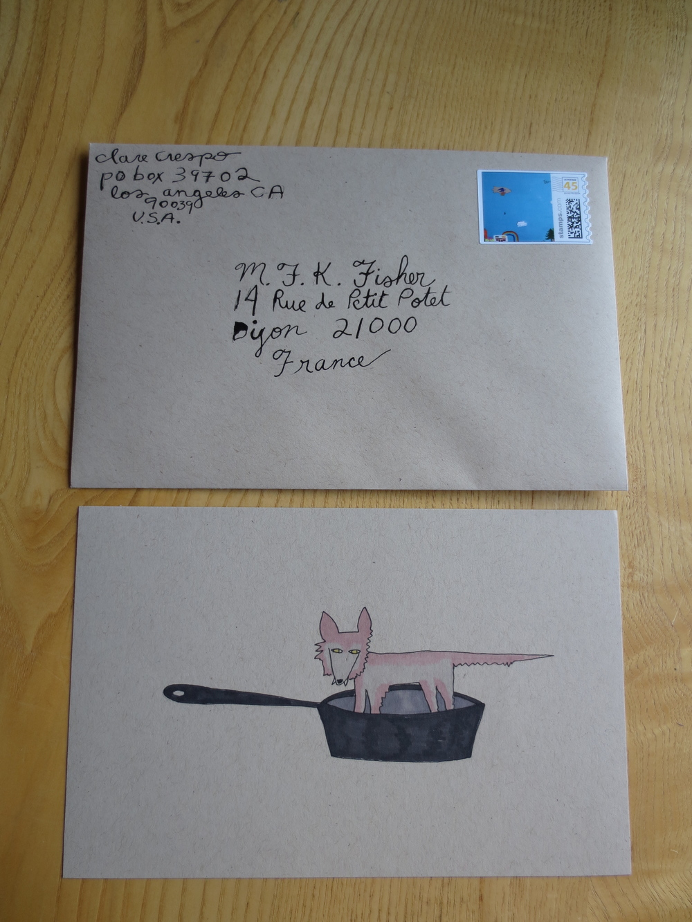 Letter to M.F. K. Fisher