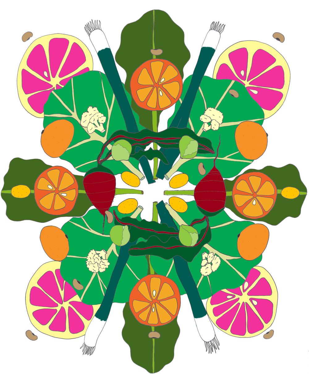 January Food Mandala
