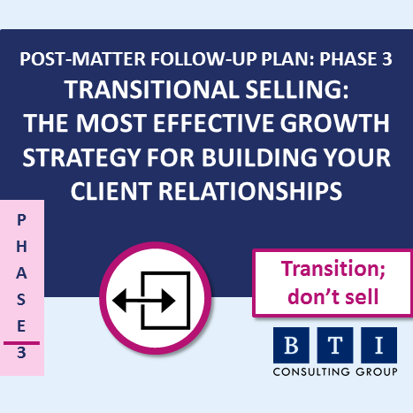 Post Matter Follow-Up Plan—Phase 3: BTI's Client