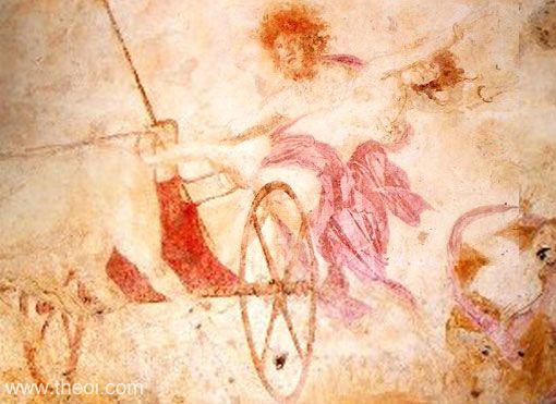 The Rape of Persephone , Greek fresco from Macedonian tomb C4th B.C