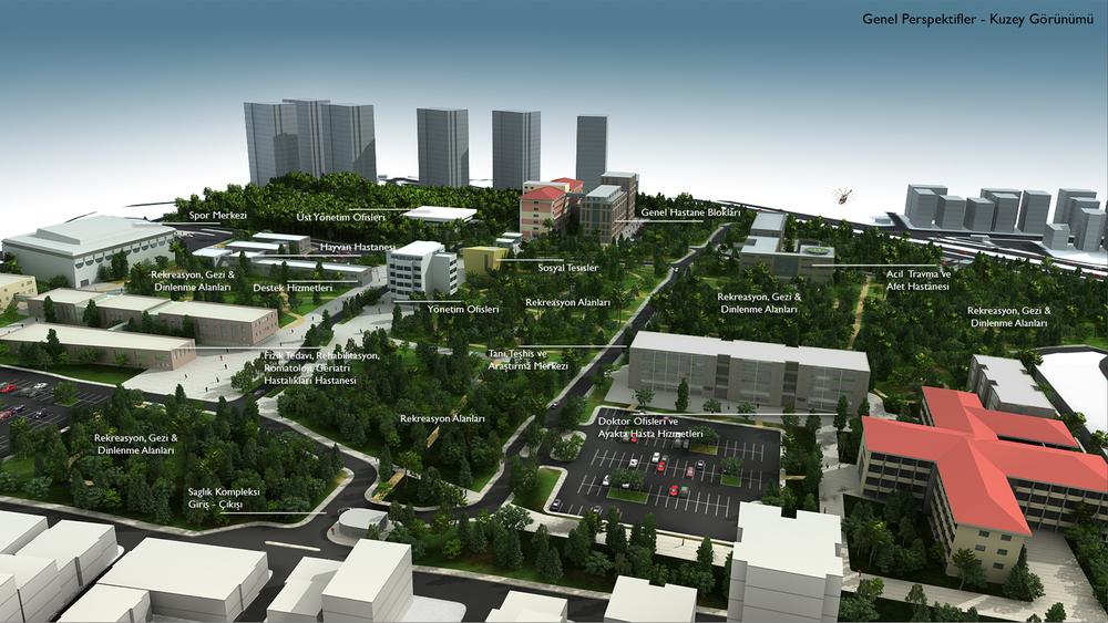 Fatih Sultan Mehmet Eğitim ve Araştırma Hastanesi Sağlık Kompleksi Master Plan ve Ana Plan Kararları