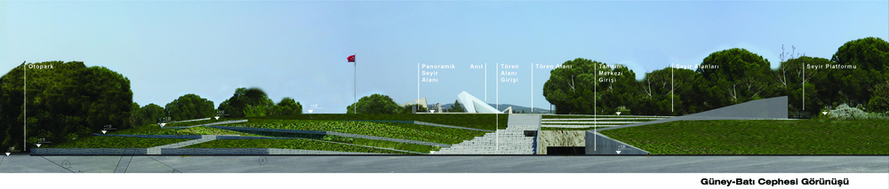 Gelibolu Milli Parkı Kabatepe Tanıtım Merkezi Yarışma Projesi (2. Mansiyon Ödülü)