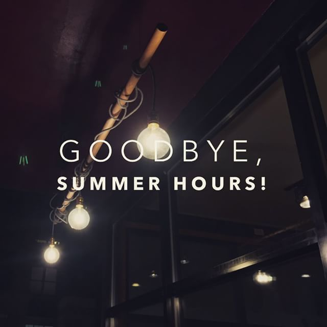 Summer Aint Over But Starting Tomorrow Aug 1 We Resume Normal Hours M Sat 630a 8p Sunday 7a 5p  E2 98 95  F0 9f 8d Ba E2 8c 9a Ef B8 8f