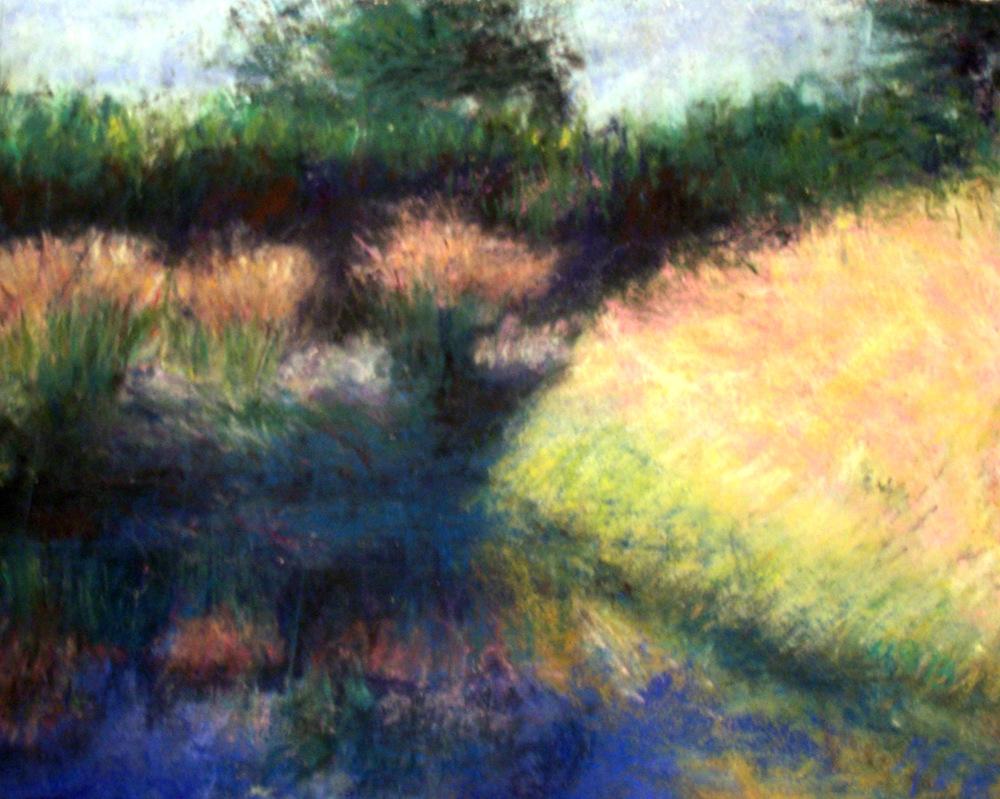 """Garden Pond   Pastel on Paper  8x11"""""""