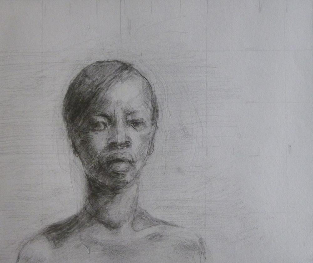 """Petite Femme  Pencil on paper 6x4"""""""