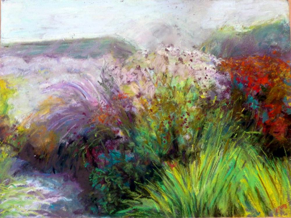 "Wild Grasses Pastel on Paper 9x12"""
