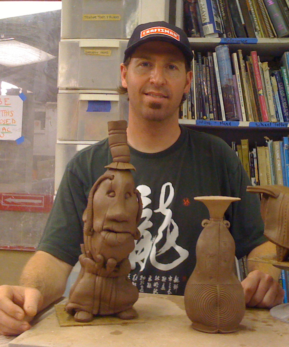 Image taken after his 2012 Hand-building workshop at the Artistic Hand.