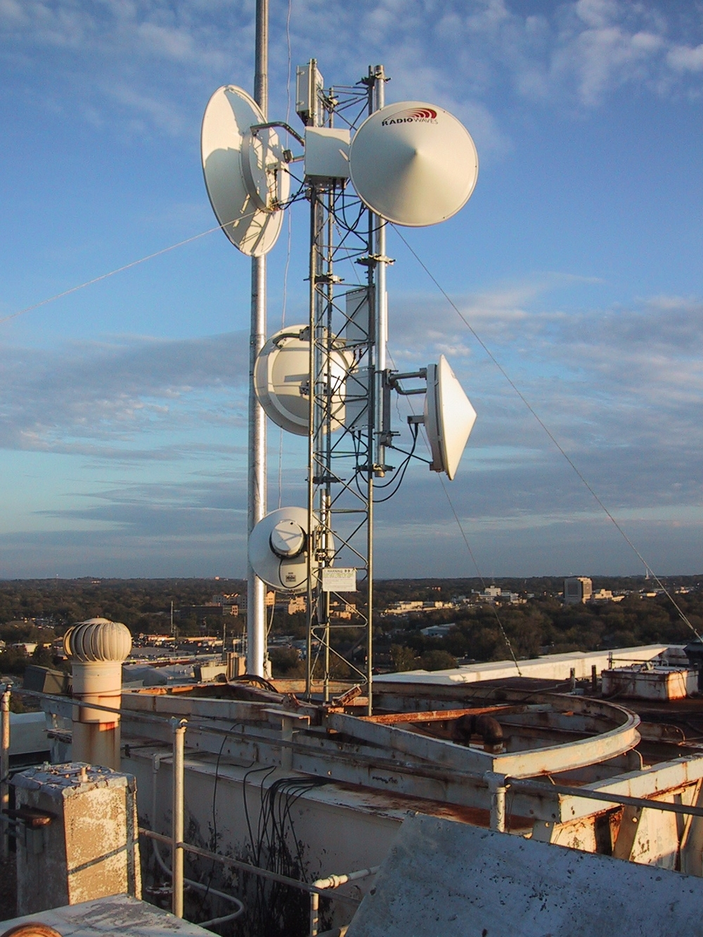 Installation of Microwave Internet Services