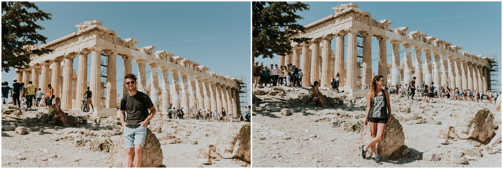 Dying of heat at the Parthenon