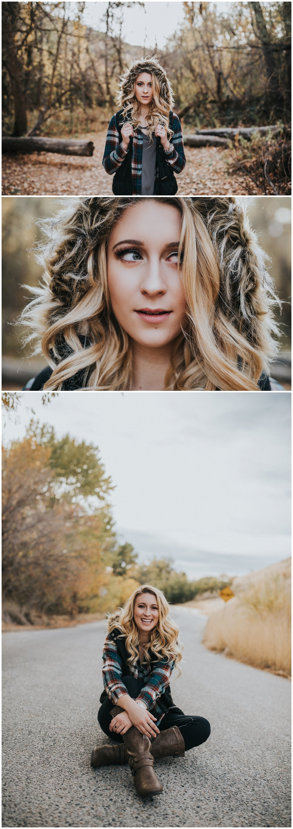 Boise Idaho Senior Portrait Photographer Kuna High School Downtown Boise Fall senior session Military Reserve