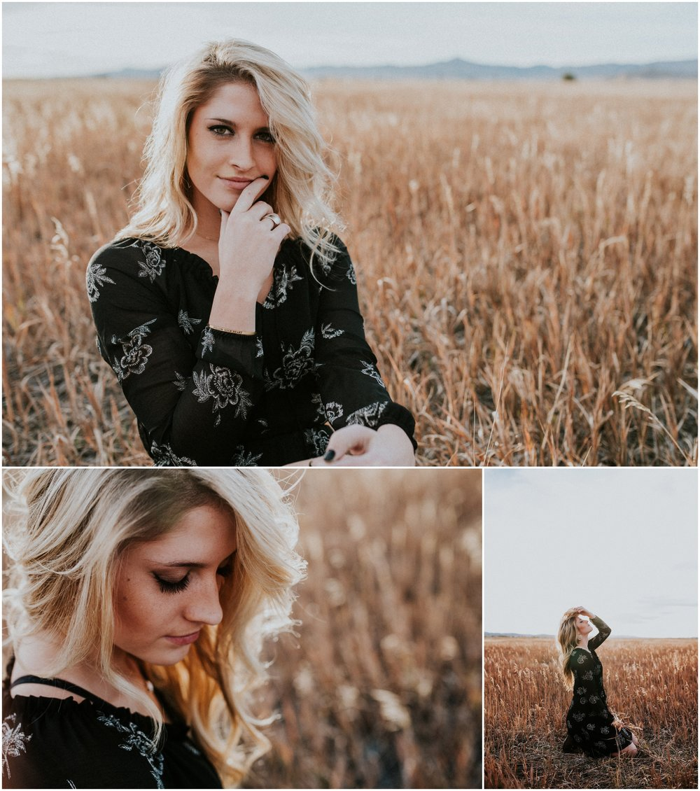 Makayla Madden Photography Boise Senior Photographer Idaho Fairfield Wheat Field Floppy Hat Senior Girl Outfit Ideas and Inspiration Miriam