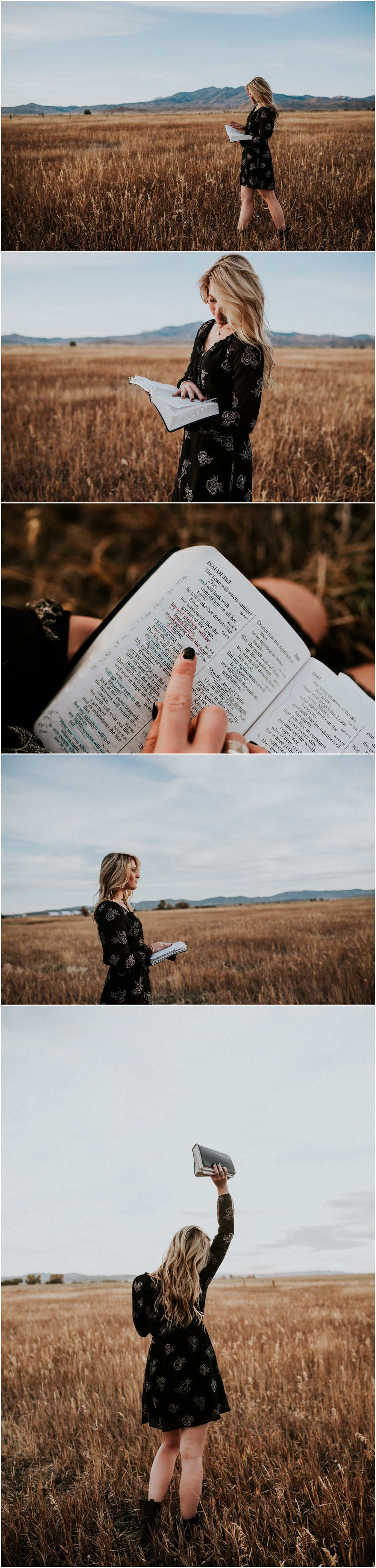 Makayla Madden Photography Boise Senior Photographer Idaho Fairfield Wheat Field Floppy Hat Senior Girl Outfit Ideas and Inspiration Miriam Worship Bible
