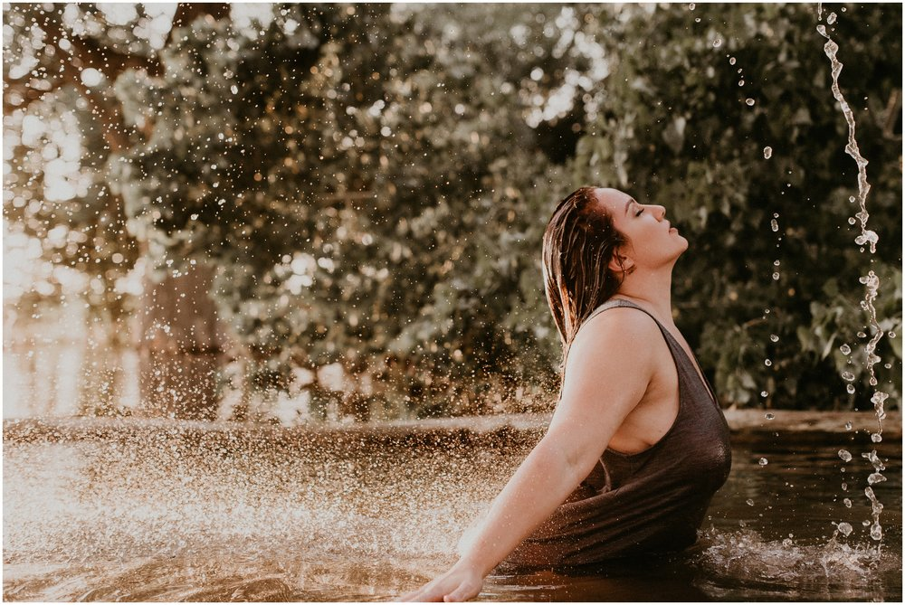 Makayla Madden Photography Boise Idaho Outdoor Boudoir Photographer Boudoir Inspiration Oregon Boudoir Photographer Hipster Boise Hair Makeup Artist Water Lake Boudoir Inspiration Hair Flip