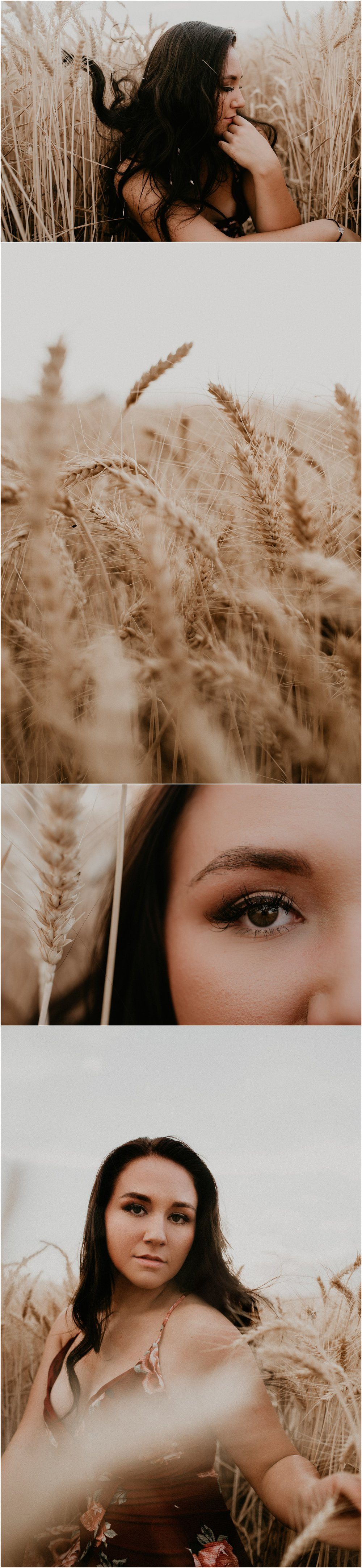 Boise Senior Photographer Makayla Madden Photography Wheat Field Summer Portrait Session Idaho Inspiration Raw Real Beauty Film Unique Sabrina Compass Sunset Golden Hour