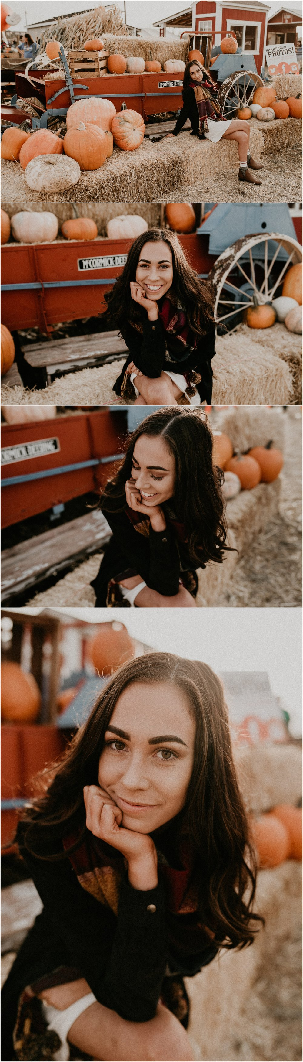 Boise Senior Boudoir Wedding Photographer Makayla Madden Photography Idaho Farmstead Corn Maze Fall Portrait Outfit Ideas Inspiration Plaid Scarf Pumpkin Patch