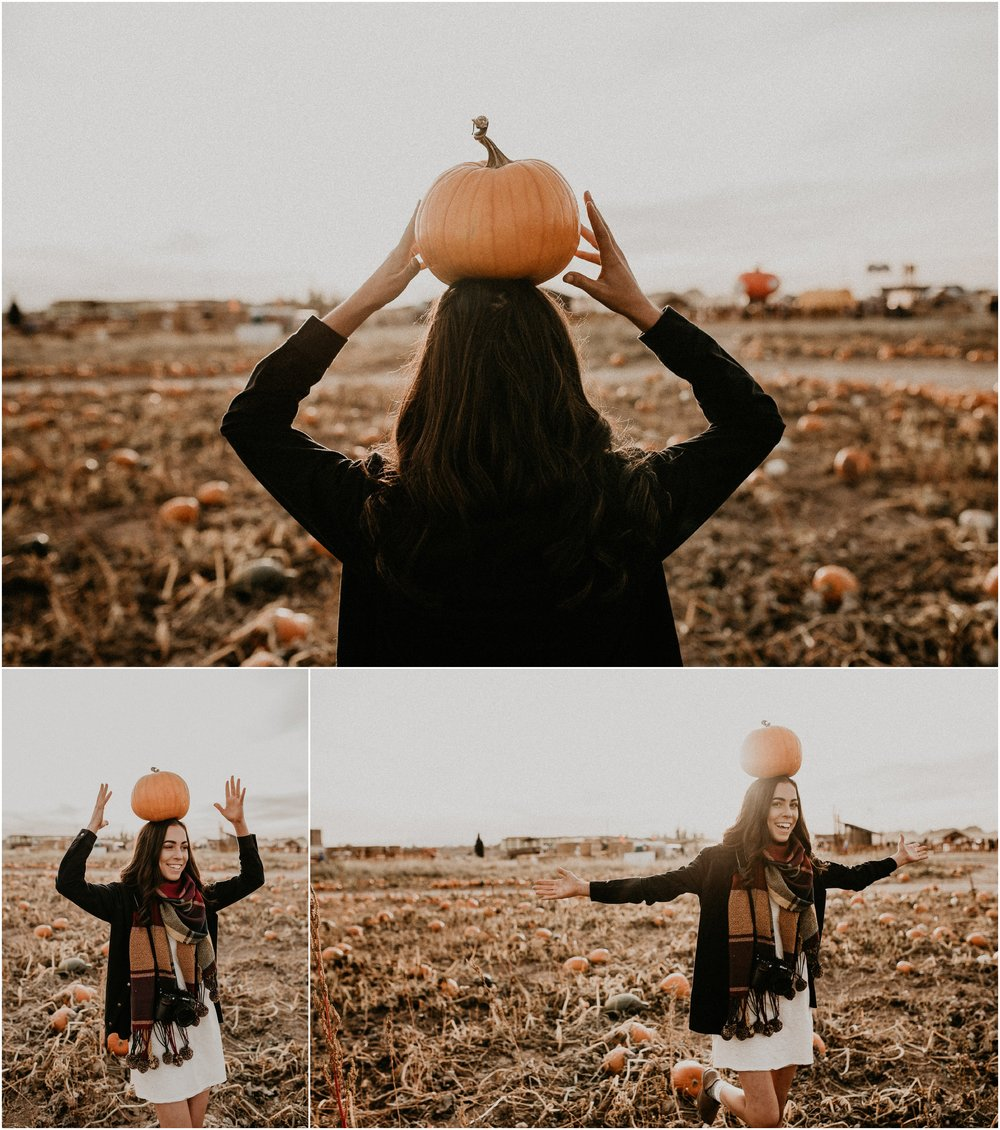 Boise Senior Boudoir Wedding Photographer Makayla Madden Photography Idaho Farmstead Corn Maze Fall Portrait Outfit Ideas Inspiration Plaid Scarf Pumpkin Patch Fun Candid Senior Girl