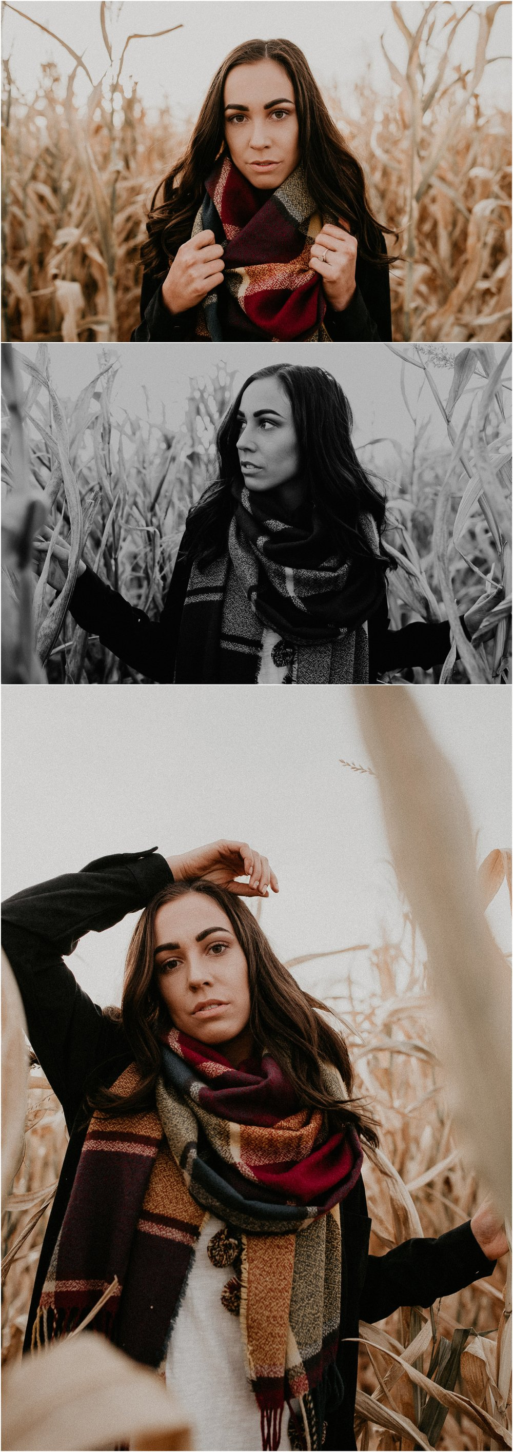 Boise Senior Boudoir Wedding Photographer Makayla Madden Photography Idaho Farmstead Corn Maze Fall Portrait Senior Picture Girl Outfit Ideas Inspiration Plaid Scarf Pumpkin Patch Corn