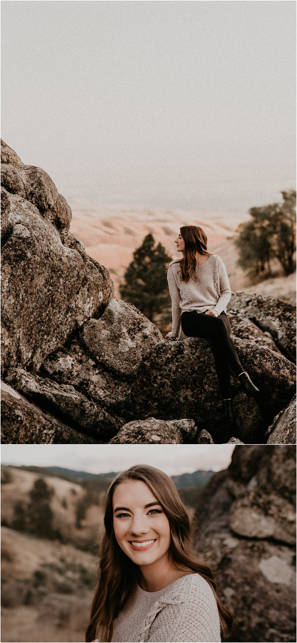 Boise Senior Photographer Makayla Madden Photography Bogus Basin Senior Girl Boise Mountains Adventure Sunset