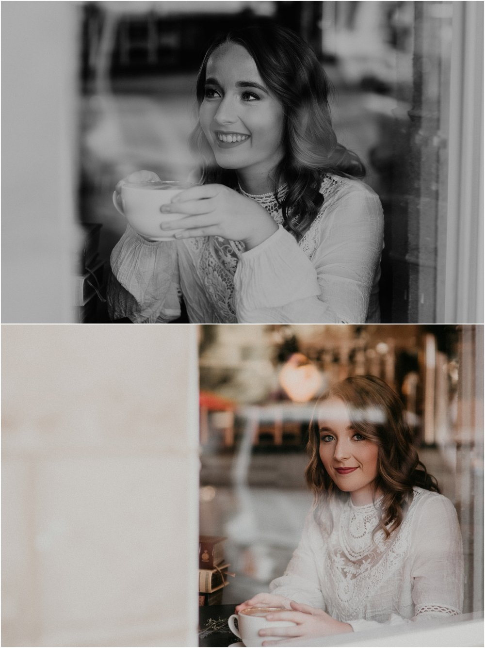 Makayla Madden Photography Boise Senior Photographer Eagle Idaho Brim Coffee House Sketching Artistic Senior Pictures Class of 2018 Coffee Shop Portraits