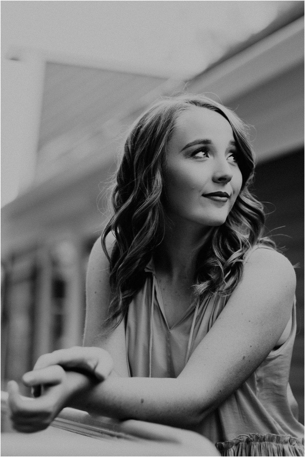 Makayla Madden Photography Boise Senior Photographer Black White Senior Girl Cole Valley Christian Eagle Idaho